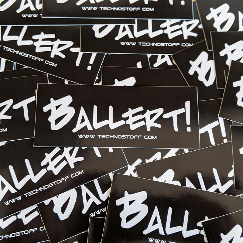 Ballert! Techno Sticker Paket