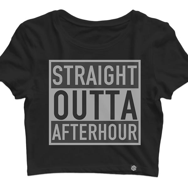Straight Outta Afterhour Crop Top für Raves und Techno Parties