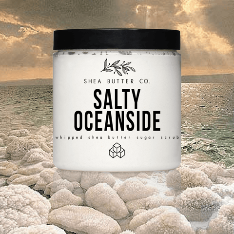 Salty Oceanside Whipped Shea Butter Sugar Scrub