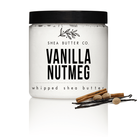 Vanilla Nutmeg Scented Whipped Shea Butter