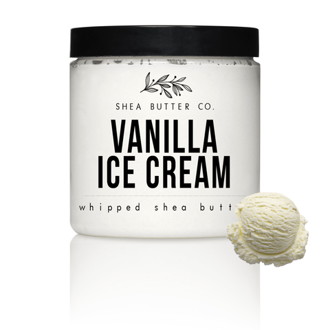 Vanilla Ice Cream Scented Whipped Shea Butter