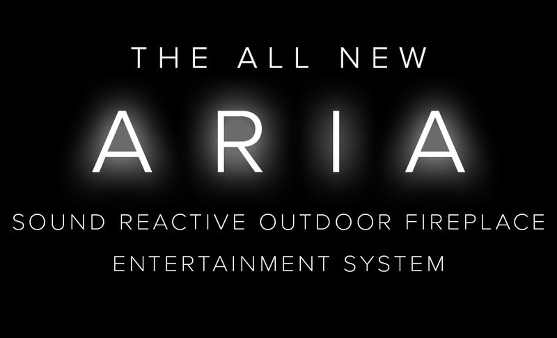 Aria Entertainment Outdoor Fireplace