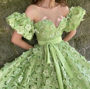 Spring Blooms Laced Gown