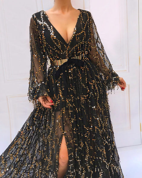 Majestic Licorice TMD Gown
