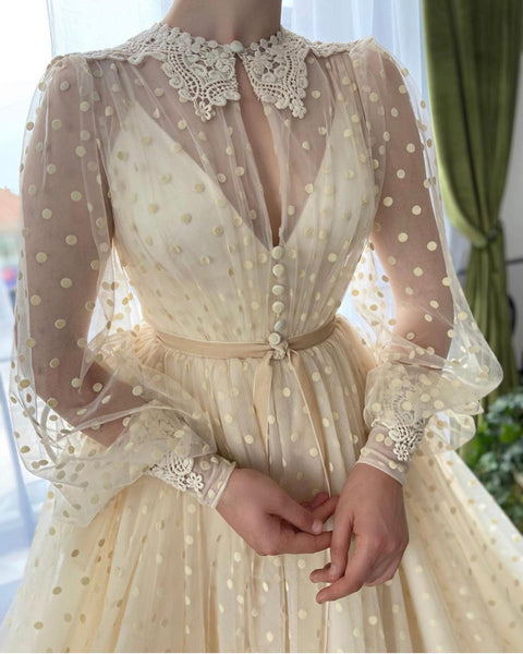 Magnolia Dots Gown