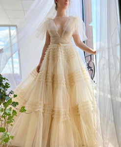 Creamy Aria Gown