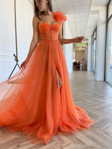 Persimmon Organza Gown