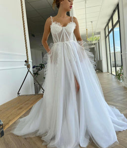 Artemesia Dotted Bridal Gown