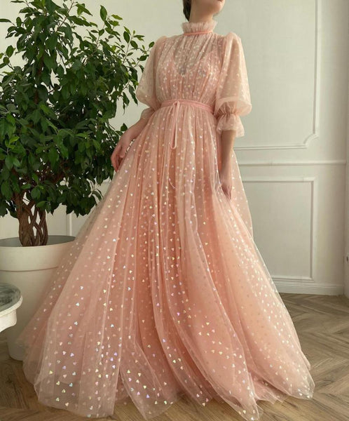 Pink Hearty Gown - Teuta Matoshi