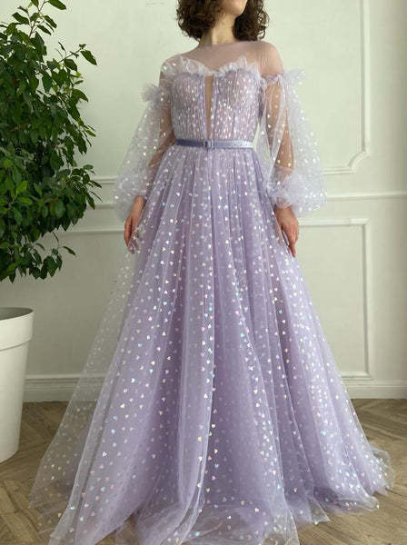 Lavender Hearty Gown - Teuta Matoshi