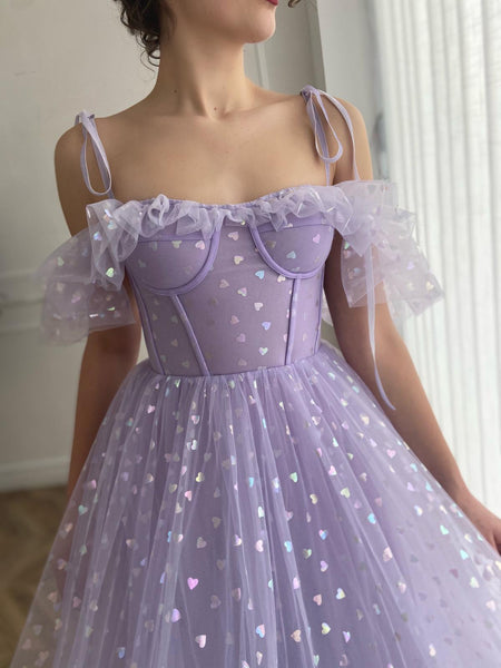 Lavender Hearty Dress - Teuta Matoshi
