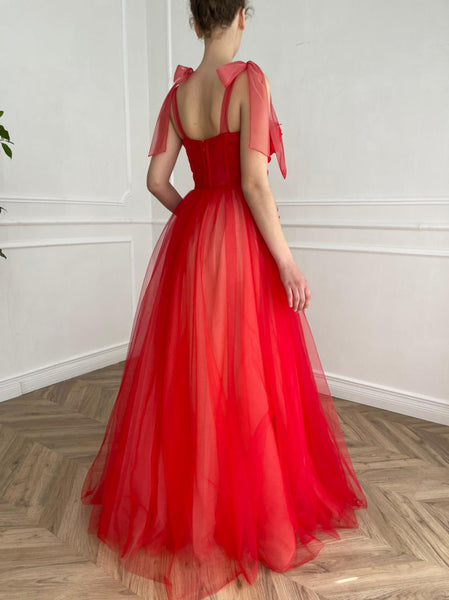 Red Reverie Gown - Teuta Matoshi