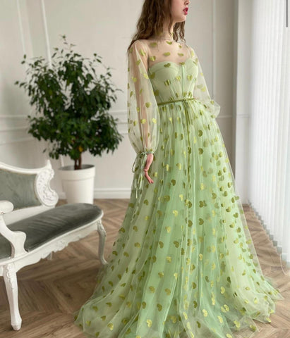 Green Hearty Gown