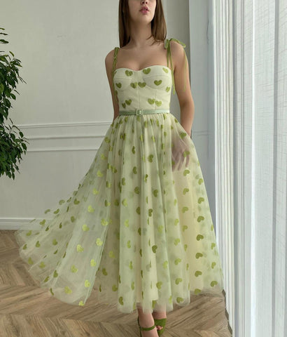 Green Hearty Dress