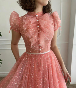 Dotted Peachy Gown
