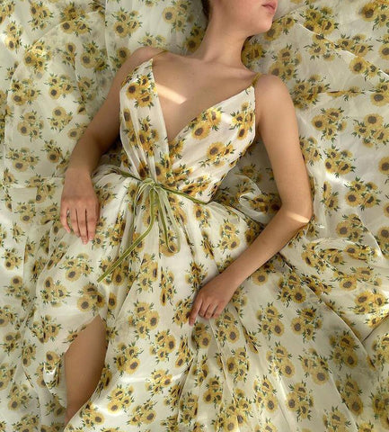 Sunflower Organza Gown