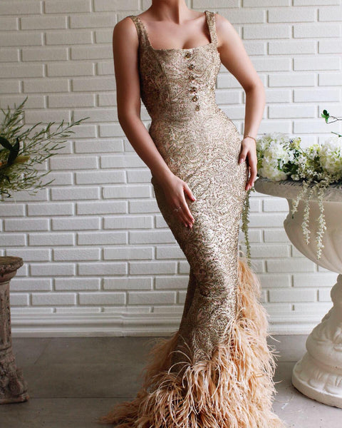Bora Feathers Gown