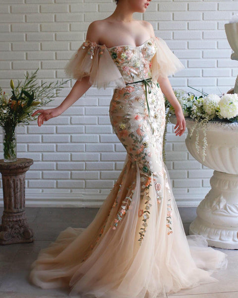 Blossom Essence Mermaid Teuta Matoshi Dress