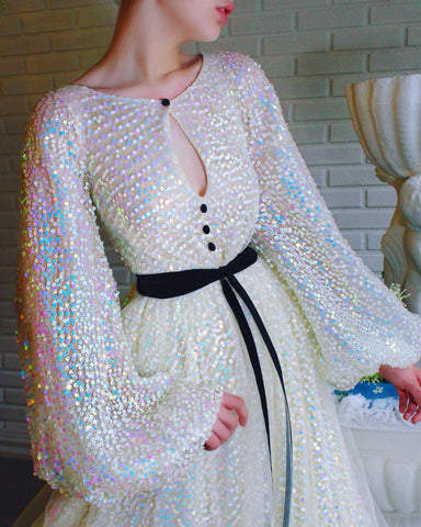 Aria Sequined Gown