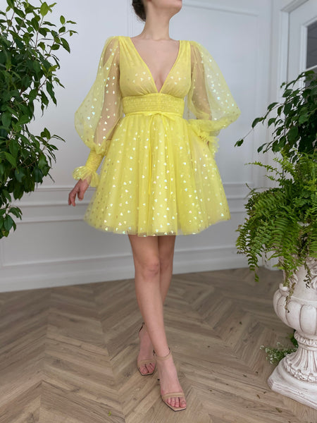 Yellow Brick Road Mini Dress - Teuta Matoshi