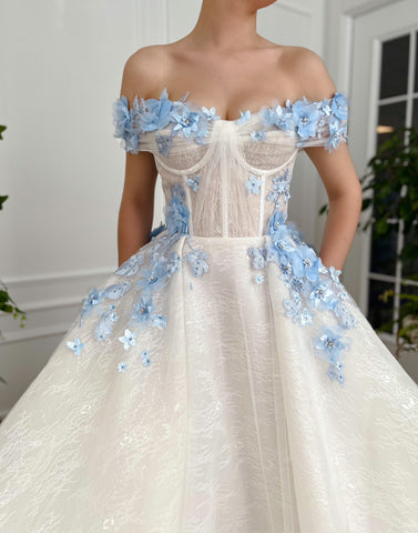 Ethereal Bluebell Gown - Teuta Matoshi