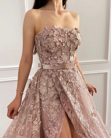 Lovely Petals Embroiderd Gown