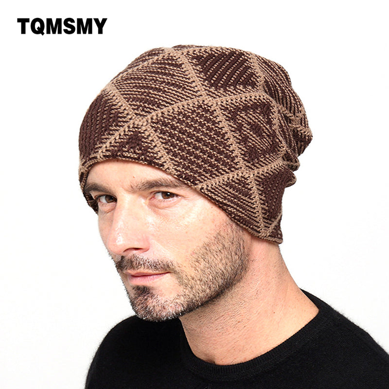 2c537ac2a73 New brand Winter Beanies men Knitted wool hat Warm Soft Beanie plus ve – My  Kinda Deal