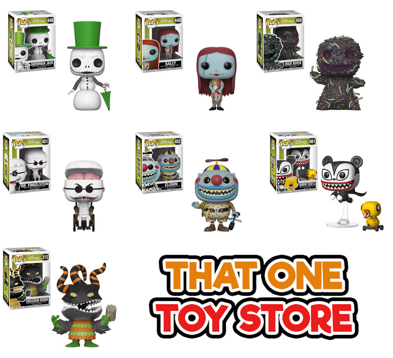 Funko Pop! Disney: Nightmare Before Christmas Bundle of 7 – That One ...