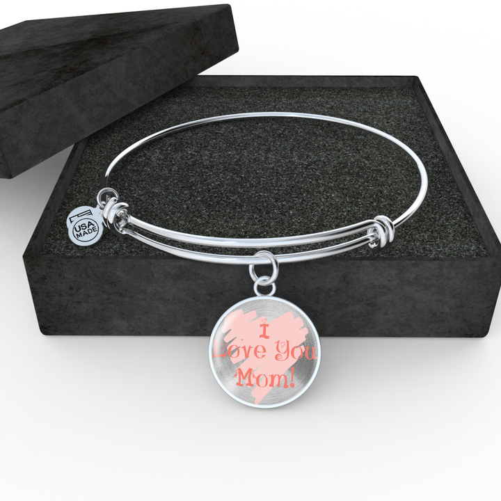I Love You Mom Silver Necklace - GuysandGirlsGeneral