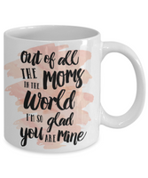 Mother's Day Coffee- Tea Mug Mom Wife Gift for Mothers Day Gift For Mom- Worlds Best Mom