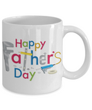 Happy Father's Day Tool Carpenter Construction Contractor Dad Father's Day New Dad Coffee Mug Gift for Dads s who Love Tools Construction Worker Gifts Carpenter Dad Gifts - GuysandGirlsGeneral