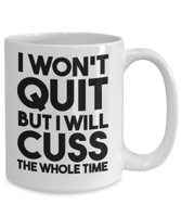 Funny Fitness Work Out Mug -Funny Work Out - Motivational Coffee/Tea- Ladies Motivation Coffee - Tea Mug - GuysandGirlsGeneral