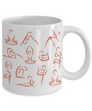 Yoga Coffee Mug for Yogi's | Yoga Lover Coffee Mug | Yoga Teacher Gifts | I Love Yoga
