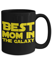 Star Wars Mom Black Coffee Mug- Mother's Day Birthday Gift