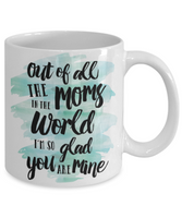 Mother's Day Coffee-Teal White Mug Mom Wife Grandma Gift for Mother