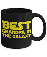 STAR WARS Best Grandpa Coffee Mug Gift- Star Wars Fans- Galaxy Gifts- Grandparents Gramps Grampa- May The Force Be with You Yoda, Luke Skywalker R2D2 …