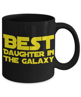 Star Wars Daughter Black Coffee Mug BLACK FRIDAY SALE