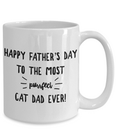 Cat Lover- Happy Father's Day to The Most Purrfect Cat Dad Ever Coffee Mug- Gift Idea Father's Day Cat Lover - GuysandGirlsGeneral