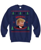 Donald Trump Funny Ugly Christmas Sweatshirt Make Christmas Great Again Office Party Xmas Sweater - GuysandGirlsGeneral