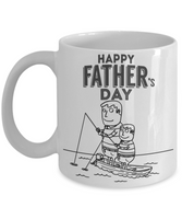 Father's and Son Fishing Coffee Mug for Father's Day- Happy Father's Day Son to Father Fishing Coffee Mug - GuysandGirlsGeneral