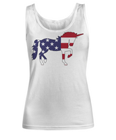 Unicorn 4th of July Red white Blue Women's Tank Top - Unicorn Tank Top- I Love Unicorns - I Believe in Unicorns -Gifts for Unicorn Lovers
