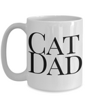 Cat Dad Funny Coffee Mug- Cat Coffee Mug Gift Father's Day Birthday Gift Idea