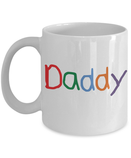 Daddy Crayon Colorful Coffee Mug for Father's Day Birthday New Daddy Gift Coffee mug - GuysandGirlsGeneral
