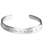 The Perfect Christmas Gift Inspirational Life Bracelet! Life Is A Gift