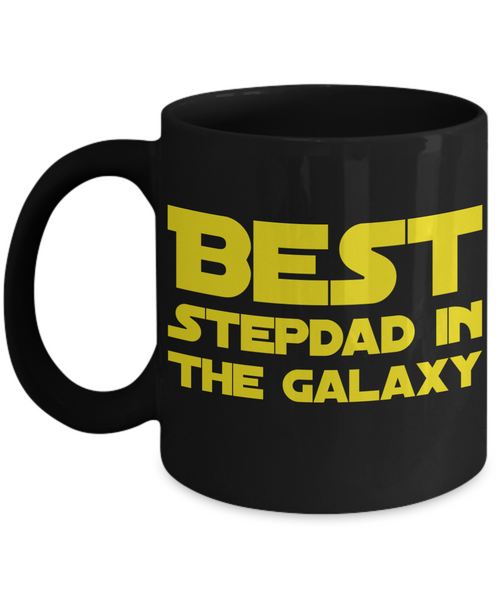 Star Wars Stepdad Black Coffee Mug- BLACK FRIDAY SALE Great Christmas Gift