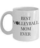 Volleyball Mom Coffee Mug -My Heart is On That Court Mom Daughter Son -11 Oz 15 OZ Cup- Mom Voice