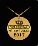 First Christmas Together-Queen Laser (18k Gold) 1Pendant - GuysandGirlsGeneral