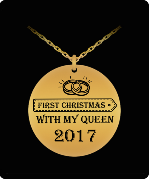 First Christmas Together-Queen Laser (18k Gold) 1Pendant