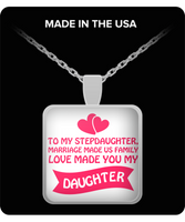 ❤ Perfect Gift for Stepdaughter - Family Gifts Bonus Child Love Silver Necklace