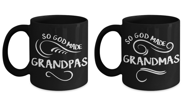 Perfect Christmas Holiday Couple Gift Coffee Mugs For Your Favorite Grandma & Grandpa!